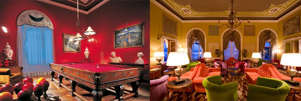 Grand Hotel Tremezzo, lago di Como, sala della musica, sala del biliardo